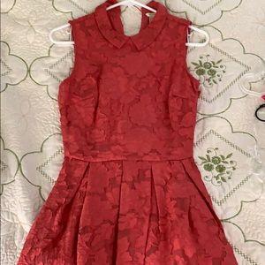 Coral Dress - Zipper on Side
